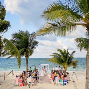 Cancun beach wedding