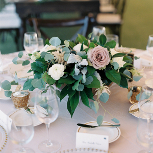 Romantic organic wedding centerpiece