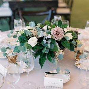 Romantic organic wedding centerpiece