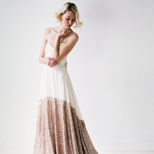 rose gold sequin wedding dress