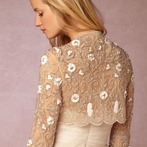 BHLDN Cinzia Beaded Bridal Jacket