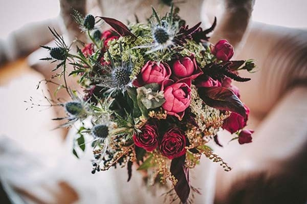 Blue and Red Bouquet