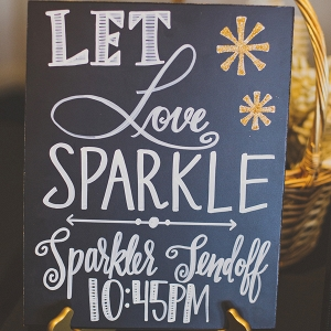 Let love sparkle wedding sign