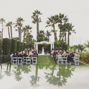 Classic lawn wedding ceremony