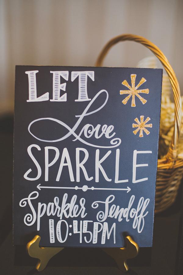 Let love sparkle wedding sign