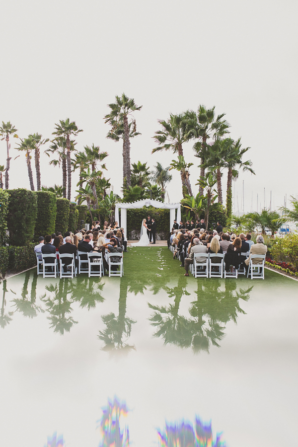 Classic lawn wedding ceremony