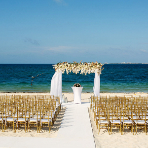 Elegant Mexico beach wedding