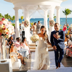 Glamorous destination wedding