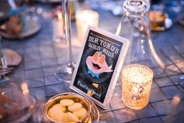 Mr. Toad's Wild Ride Disneyland themed wedding table number