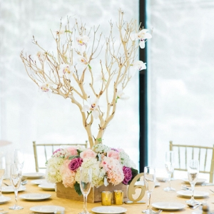 Manzanita wedding centerpiece