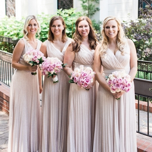 Dusty rose bridesmaid dresses