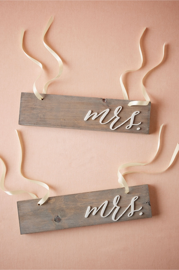 Driftwood Wedding Chair Signs