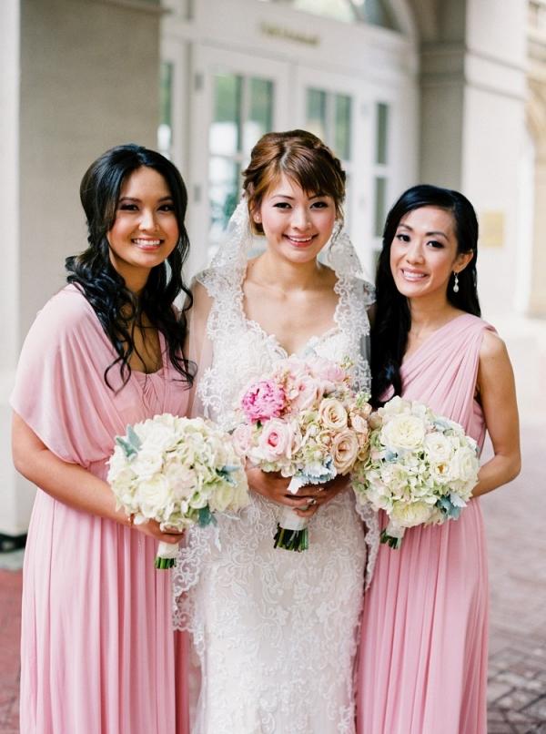 Pink bridesmaid dresses