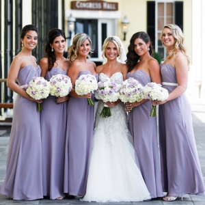Lavender bridesmaid dresses