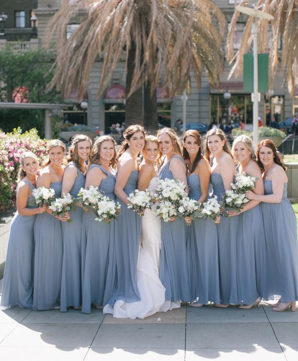 periwinkle bridesmaid dresses