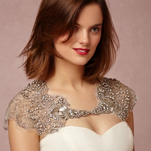 bhldn Embellished Bridal Capelet