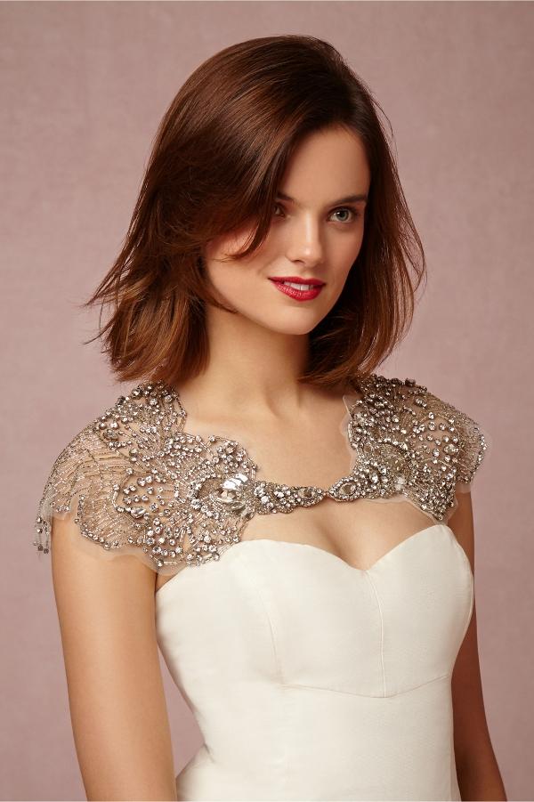 bhldn Embellished Bridal Capelet
