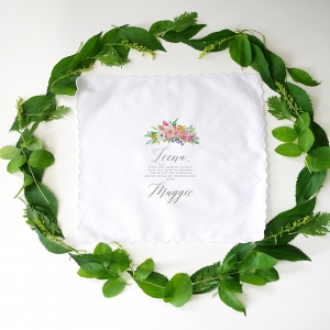 Floral Personalized Printed Handkerchief