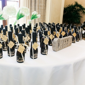Mini champagne bottles