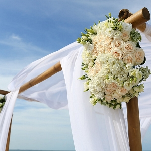Breezy beach wedding arch