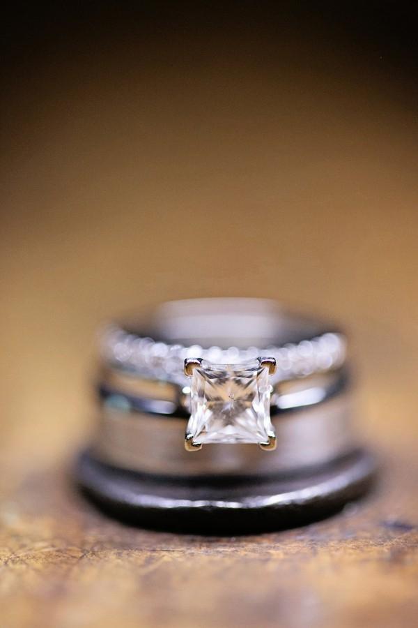 Simple, elegant square engagement ring
