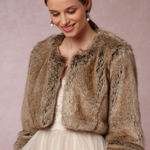 BHLDN Greer Faux Fur Jacket