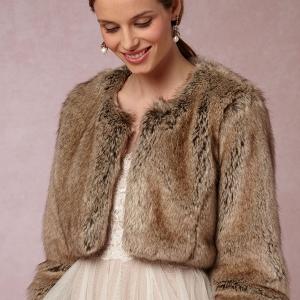 BHLDN Greer Faux Fur Jacket