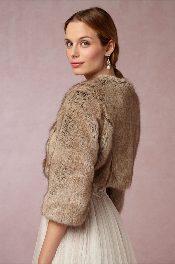 BHLDN Faux Fur Jacket