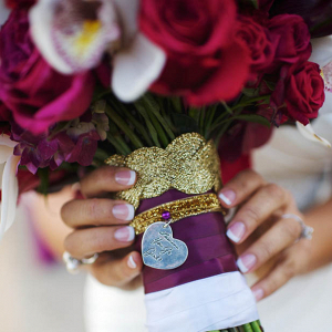 Unique wedding bouquet charm