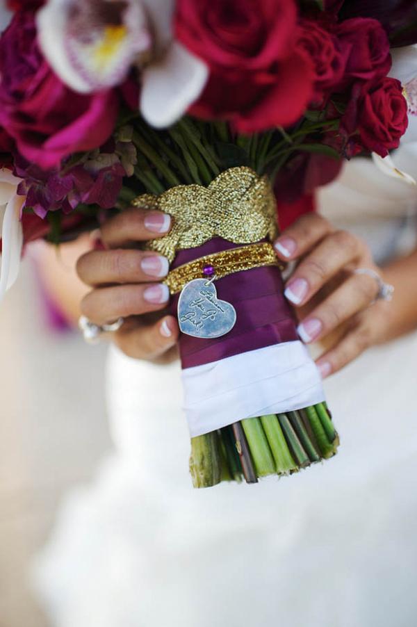 Unique wedding bouquet charm