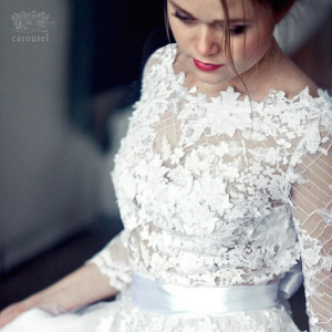 Lace and Tulle Long Sleeved Wedding Dresses