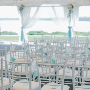 White tented wedding ceremony