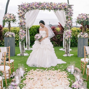 Luxury floral wedding ceremony