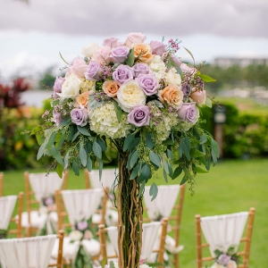 Luxurious pastel ceremony arrangement