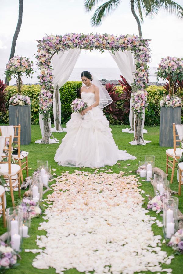 Luxury floral wedding ceremony