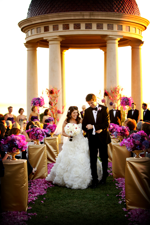 Radiant orchid wedding ceremony