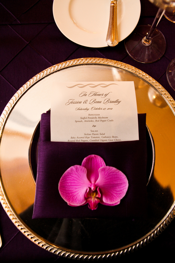 Radiant orchid place setting