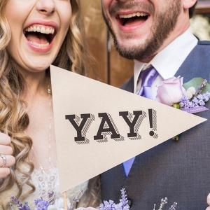 Yay wedding sign