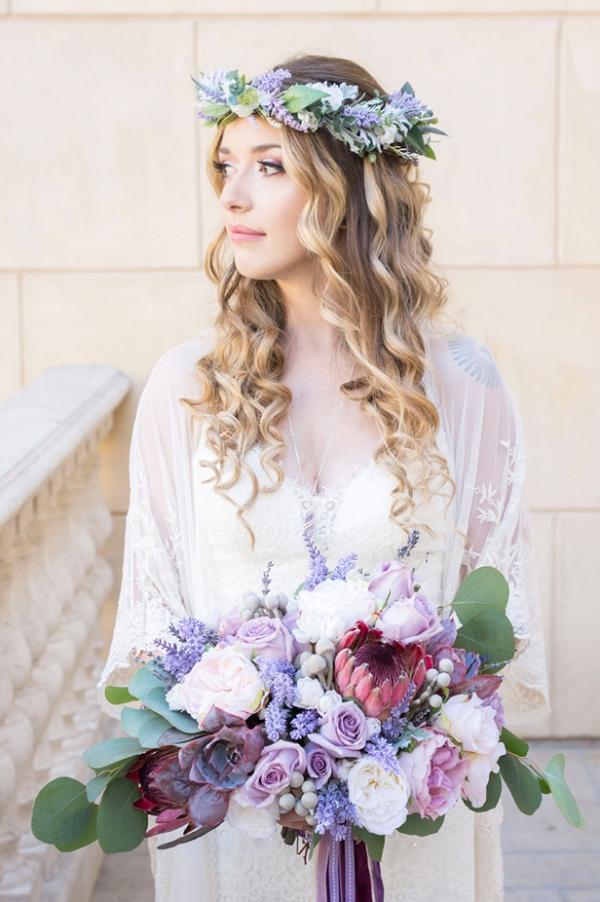 Bohemian bridal style