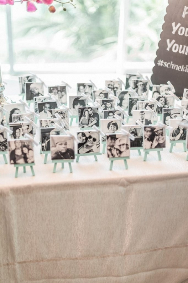 Picture frame escort cards