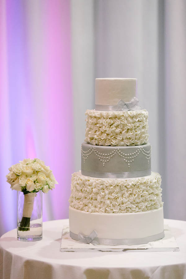 Elegant textured wedding cake