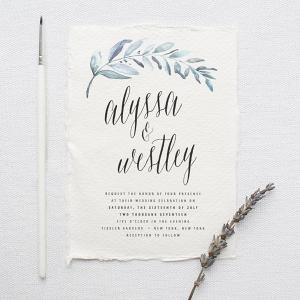 Organic Watercolor Wedding Invitation