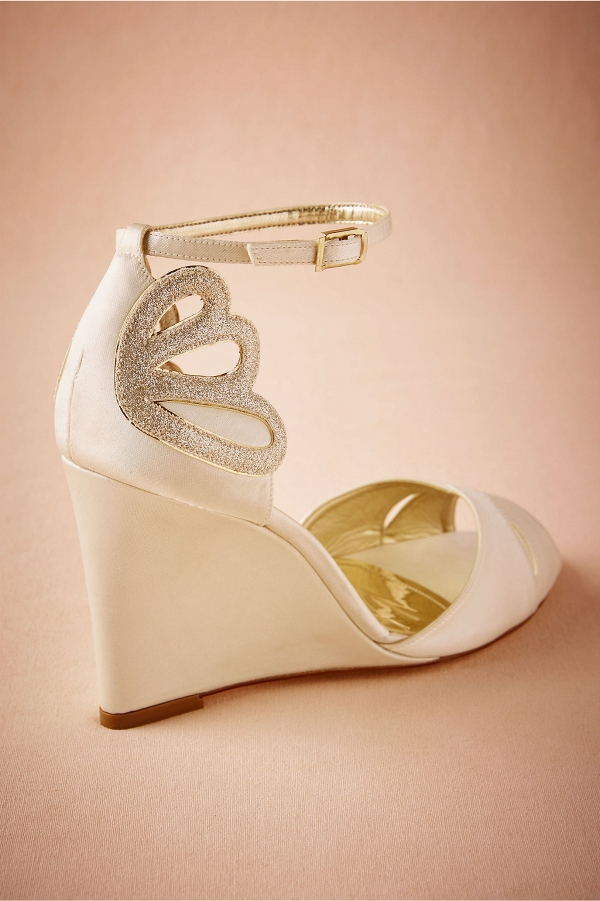 BHLDN Peep Toe Bridal Wedges