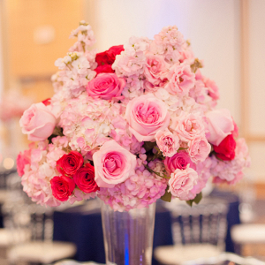 Tall pink wedding centerpieces