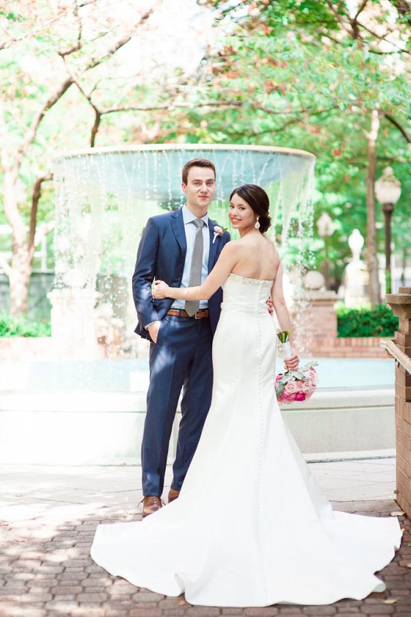Classic wedding portrait