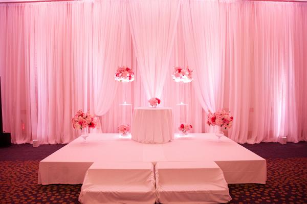 Modern ballroom wedding ceremony