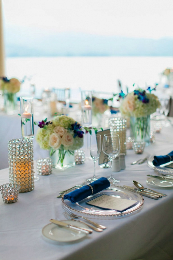 Elegant Kauai wedding reception