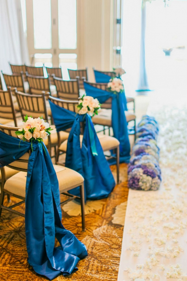 Elegant blue wedding ceremony