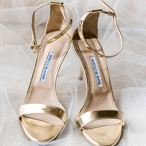 Gold Manolo Blahnik sandals