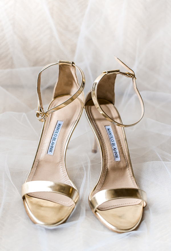 Gold Manolo Blahnik sandals